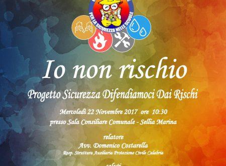 22 novembre 2017, Giornata Nazionale per la sicurezza nelle scuole: l'I.C. di Sellia Marina organizza un convegno sui rischi e la cultura della sicurezza